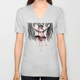 BLOODING Unisex V-Neck