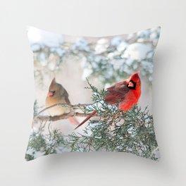 Remembering.... (Northern Cardinals) Throw Pillow