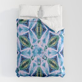Geometric pattern in purple and blue Comforters