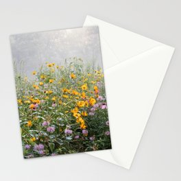 Flowers in the mist Stationery Cards