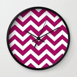 Jazzberry jam - violet color - Zigzag Chevron Pattern Wall Clock