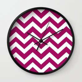Jazzberry jam - violet color - Zigzag Chevron Pattern Wall Clock