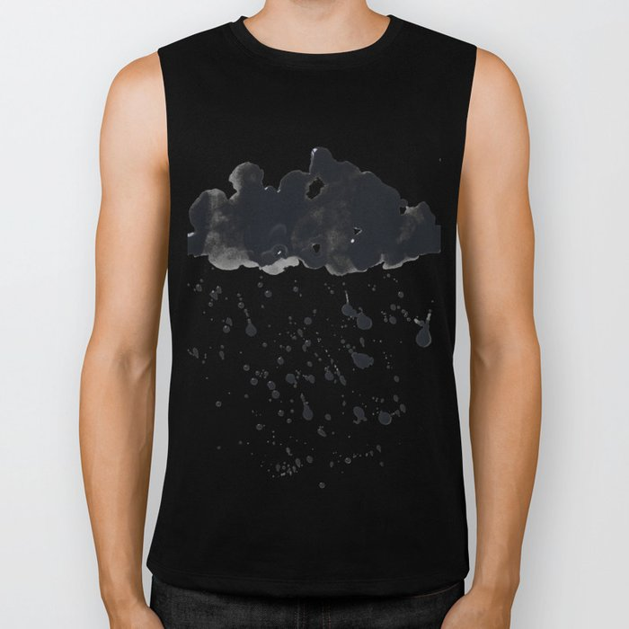 Stormy Black Clouds Version 2 For Earth Day Biker Tank