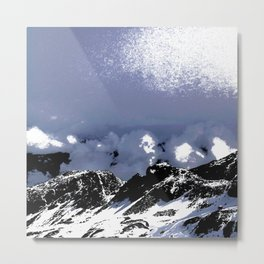 Light on mountains and clouds Metal Print