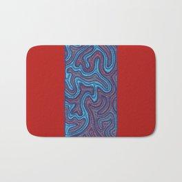 Stitches - Coral Bath Mat