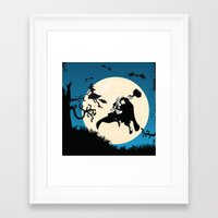 shrek Framed Art Prints featuring Thor after Witch by bimorecreative