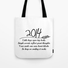 2014 A New Year Quote  Tote Bag