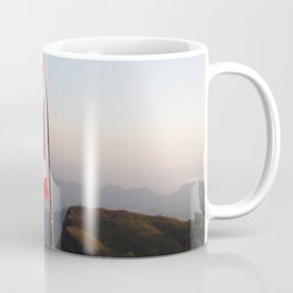 Thai flag on Mountain Coffee Mug