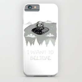 I Want To Believe in Kang and Kodos iPhone Case