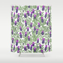 April blooms(lavender) Shower Curtain