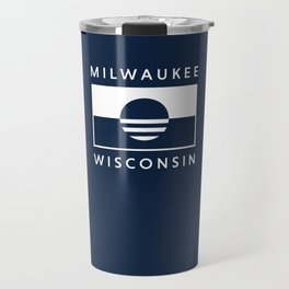 Milwaukee Wisconsin - Navy - People's Flag of Milwaukee Travel Mug