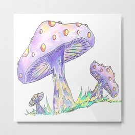 """""""Shroom Rainbow"""" Metal Print"""