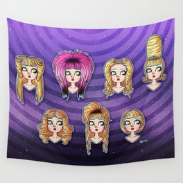 Wig in a Box Wall Tapestry