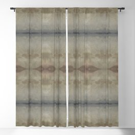 Natural Earth Tones Abstract Blackout Curtain