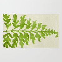 lime Area & Throw Rugs featuring Lime Fern by Cat Coquillette