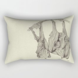 Three Flying Foxes Rectangular Pillow