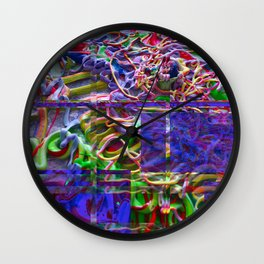 Alien Puke Glitch Wall Clock