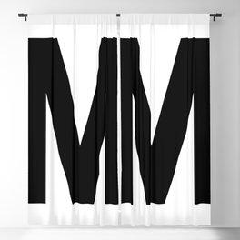 Letter M (Black & White) Blackout Curtain
