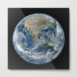 Planet Earth from Above Metal Print