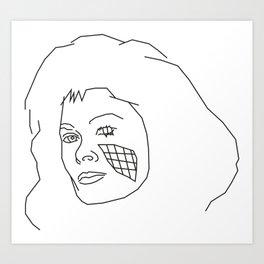 Diana of V Art Print