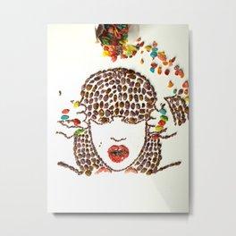 Jess J Fruity Pebbles Art Metal Print