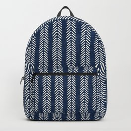 Mud cloth - Navy Arrowheads Backpack