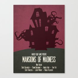 Mansions of Madness - Minimalist Board Games 04 Canvas Print
