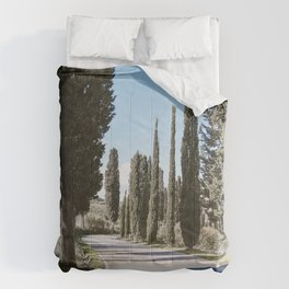 a road in tuscany Comforters