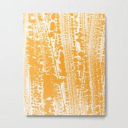 Orange creamsicle Splatter Splash Decor Metal Print