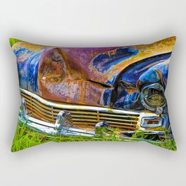Vintage Frazer Auto Wreck Front End Rectangular Pillow
