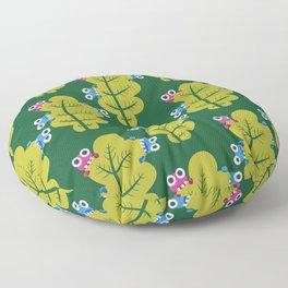 Bugs Eat Green Leaf Floor Pillow