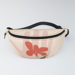 Flower on the Palm of the Hand Fanny Pack