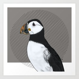 FEATHER FEST - PUFFIN Art Print