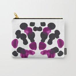 Purple & Black Organic Ink Blot Diagram Carry-All Pouch