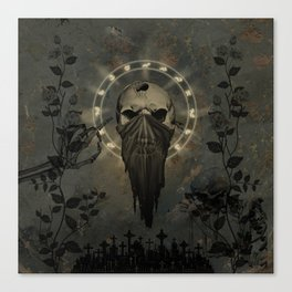 Creepy skull Canvas Print