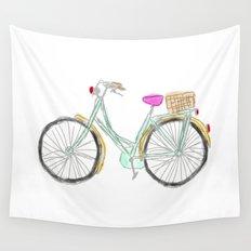 My new bike - digital watercolor bike art Wall Tapestry