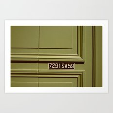 Green doorway  Art Print