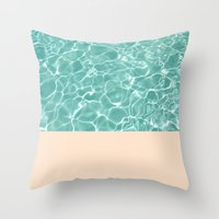 pool Throw Pillows featuring Pool by Grace
