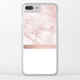 Minimalist rose gold glam Clear iPhone Case