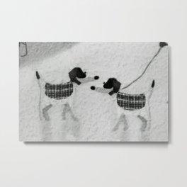 Dog talk Metal Print