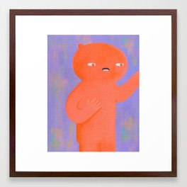 Hold On Lemme Just Grab This... Framed Art Print