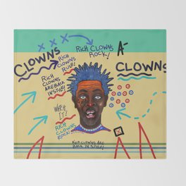 Rich Clowns Are Back In Style Throw Blanket