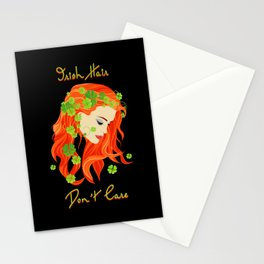 Irish Hair Don't Care- St. Patric's Day Stationery Cards