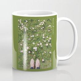 Pink Flower Field Coffee Mug