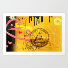Handicapped Giraffe Art Print