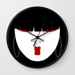 Modern Geisha #2 Wall Clock