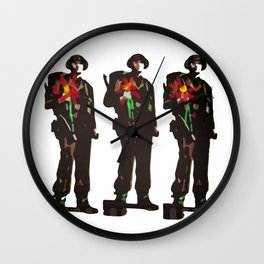 Flowers Not Guns Wall Clock