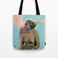 bali Tote Bags featuring Bali by Organic Mind