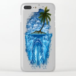 Shark Island (Hammerhead) Clear iPhone Case