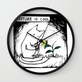 Nature Is Cool Wall Clock